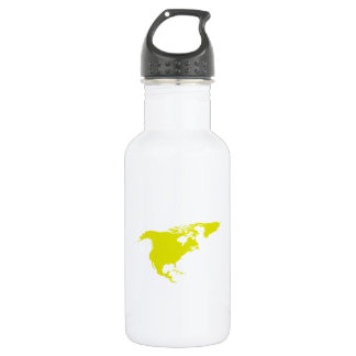 Continent of North America 18oz Water Bottle