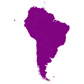 Continent of South America Cutout