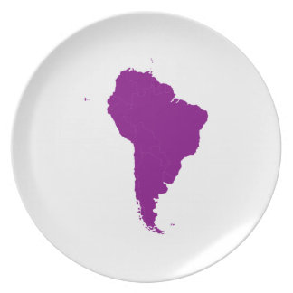 Continent of South America Plate