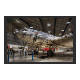 Continental Airlines DC3 Poster