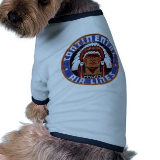 Continental Airlines Vintage sign Dog T-shirt