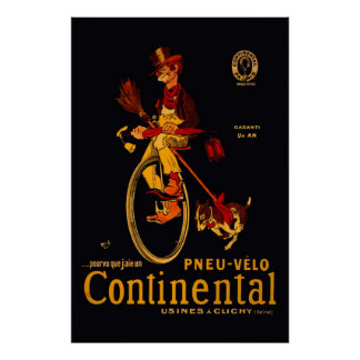 Continental Bicycle  Reissue  36 x 24 Poster