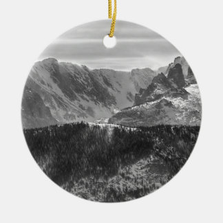 Continental Divide Rocky Mountains National Park Ceramic Ornament