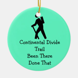 Continental Divide Trail Double-Sided Ceramic Round Christmas Ornament