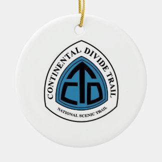 Continental Divide Trail Sign, USA Ceramic Ornament