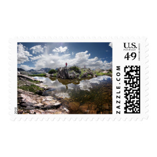 Continental Divide - Weminuche Wilderness Colorado Stamp