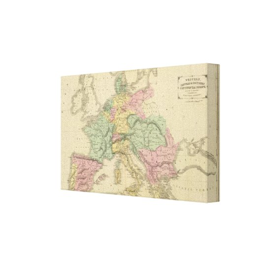 Continental Europe Canvas Print