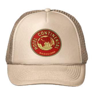 Continental hotel hat
