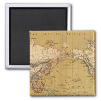 Continental Map 2 Inch Square Magnet
