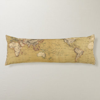 Continental Map Body Pillow
