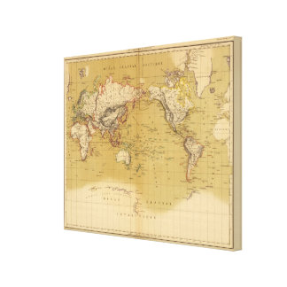 Continental Map Canvas Print
