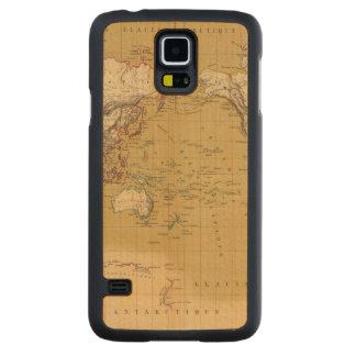 Continental Map Carved® Maple Galaxy S5 Slim Case