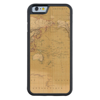 Continental Map Carved® Maple iPhone 6 Bumper Case