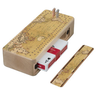 Continental Map Cribbage Board