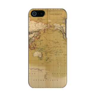 Continental Map Metallic Phone Case For iPhone SE/5/5s
