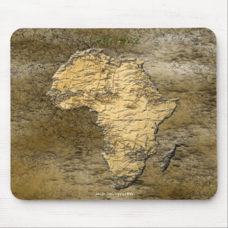 Continental Map of Africa on Rustic Stone BG Mouse Pad