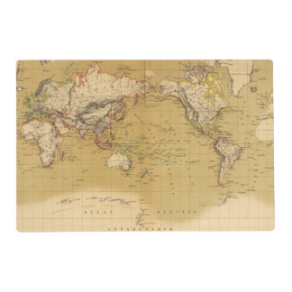 Continental Map Placemat
