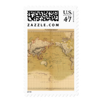 Continental Map Postage Stamp