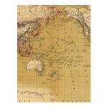 Continental Map Postcard