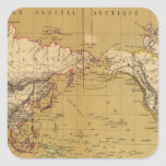 Continental Map Square Sticker