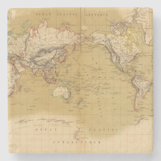 Continental Map Stone Coaster