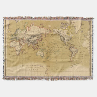 Continental Map Throw