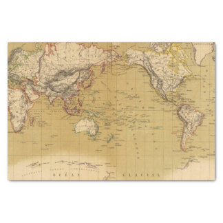 Continental Map Tissue Paper
