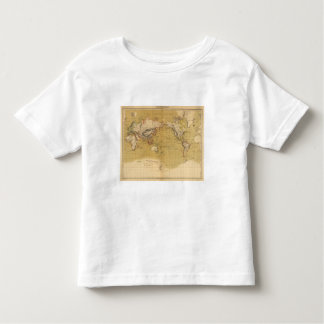 Continental Map Toddler T-shirt