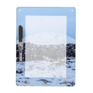 Continental plates in Iceland Dry Erase Board