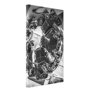 Continental R-670-5 Radial Engine Canvas Print