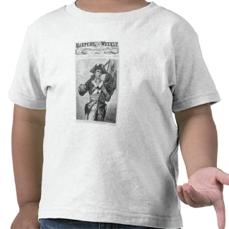 Continental Soldier holding a musket flag Tshirt