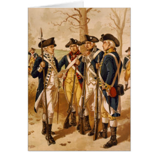 Continental Soldiers by Henry Alexander Ogden Greeting Card