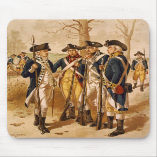 Continental Soldiers by Henry Alexander Ogden Mouse Pads