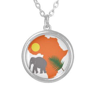 Continente africano colgante redondo