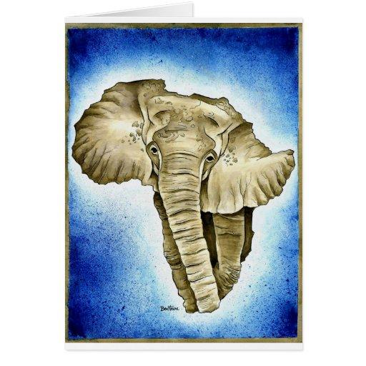 Continente africano tarjeta de felicitación