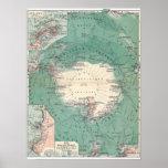 Continente antártico poster