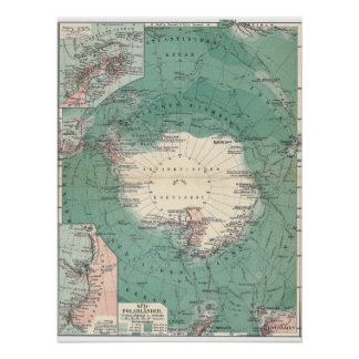 Continente antártico póster
