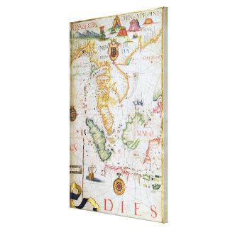 Continente Asia sudoriental, detalle del atlas del Impresiones En Lona Estiradas