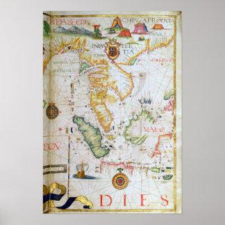 Continente Asia sudoriental, detalle del atlas del Póster