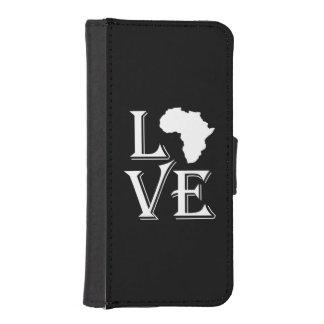 Continente de África del amor Carteras