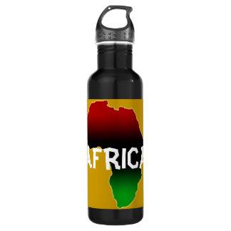 Continente de África en rojo, verde, y negro