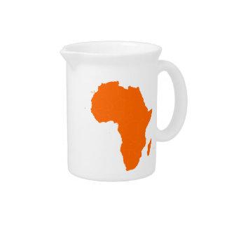 Continente de África Jarra Para Bebida