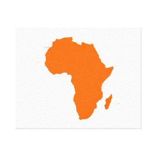 Continente de África Impresion En Lona