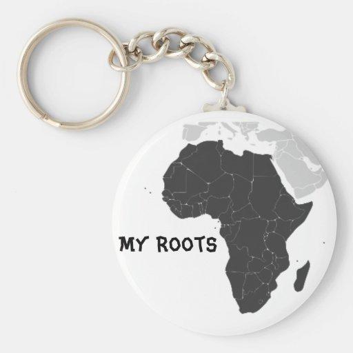 Continente de África Llavero