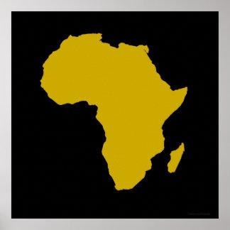 """""""Continente de África - oro intrépido """" Póster"""