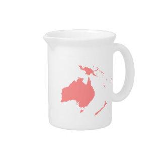 Continente de Australia Jarrón