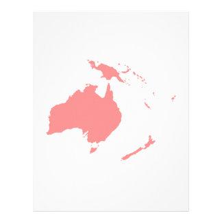 Continente de Australia Membrete