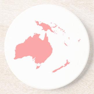 Continente de Australia Posavasos Para Bebidas