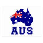 Continente de Australia Tarjeta Postal