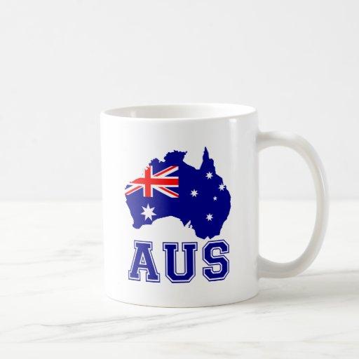 Continente de Australia Taza De Café